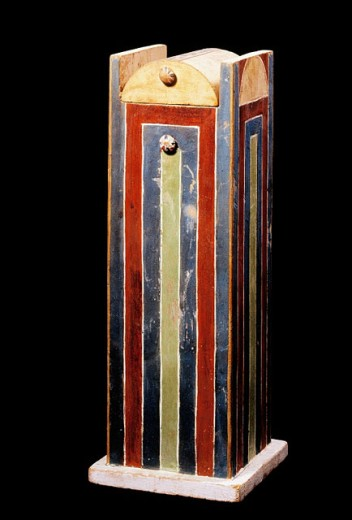 Stock Photo: 1566-063924 ´Ushabti´ box of Yuya, commander of the Egyptian chariotry and overseer of the cattle of the local god Min. Egyptian Museum. Egypt