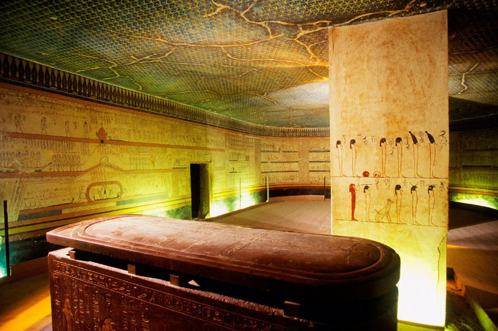 Stock Photo: 1566-063980 Tomb of Tutmosis III. Valley of the Kings. West Bank. Luxor. Egypt