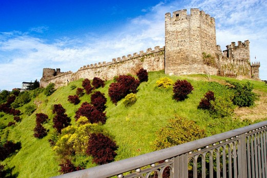 Stock Photo: 1566-064290 Templar castle (built 12th-13th century). Ponferrada. León province. Spain