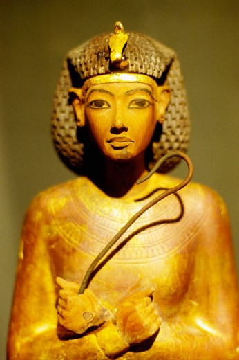 ´Ushabti´ figure from the tomb of Tutankhamen at museum. Egypt : Stock Photo