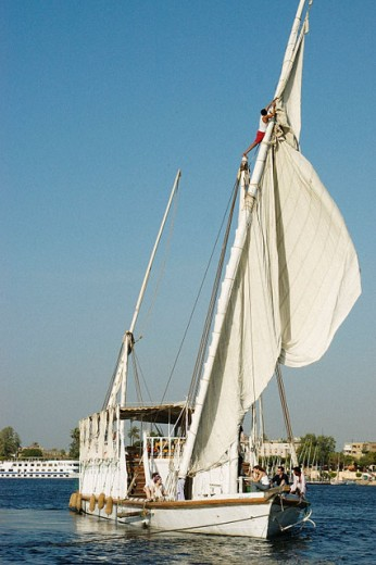 Stock Photo: 1566-064373 Traditional boat on Nile River. Luxor. Egypt