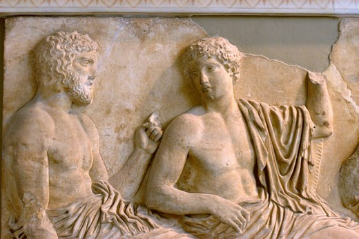Poseidon and Apollo, Parthenon pediment sculptures at Acropolis Museum. Athens. Greece : Stock Photo