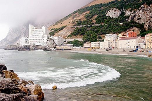 Catalan Bay and Caleta Hotel. Gibraltar. UK : Stock Photo
