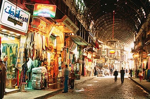 Stock Photo: 1566-068428 Old city bazaar. Damascus. Syria