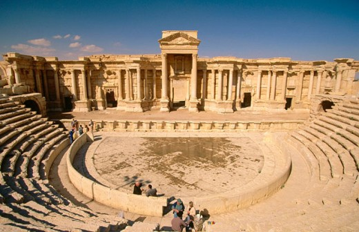 Roman theater. Palmyra. Syria : Stock Photo