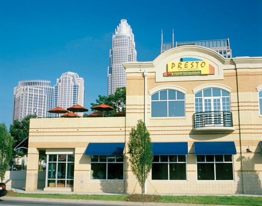 Cafes and restaurants at South Graham Street in downtown Charlotte. North Carolina, USA : Stock Photo