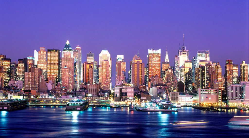 Midtown Manhattan skyline, New York City. USA : Stock Photo