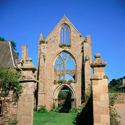 Beauport Abbey. Bretange. France : Stock Photo