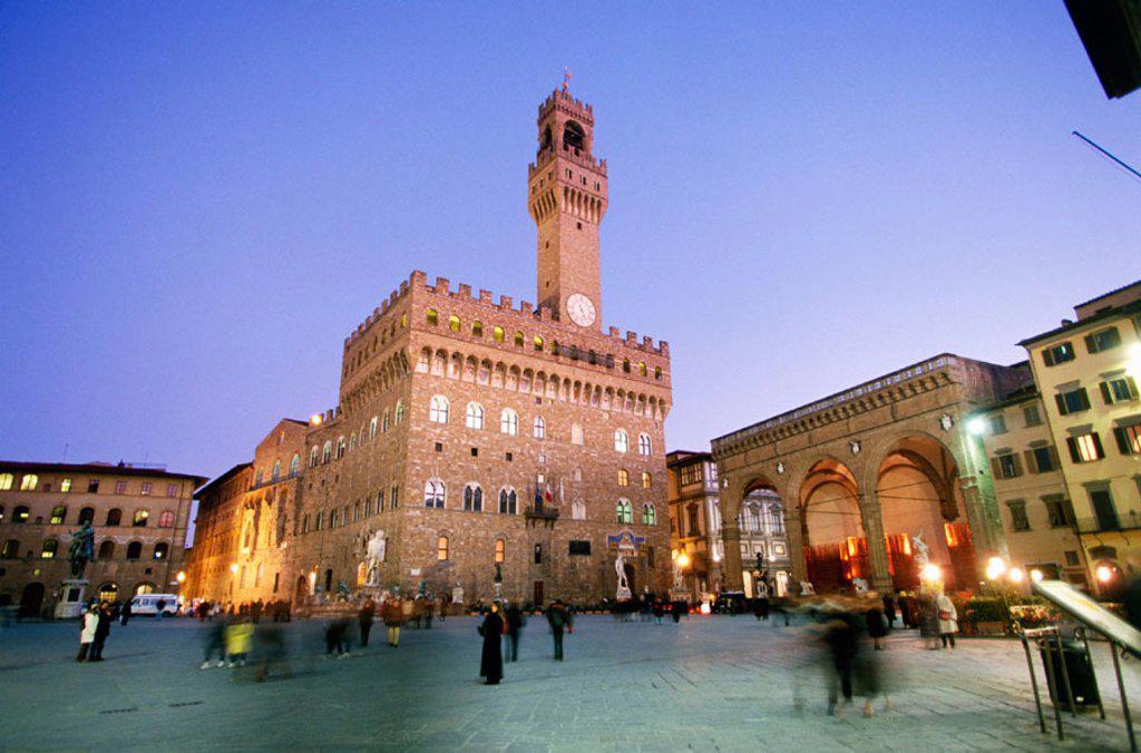 Palazzo Vecchio at Piazza della Signoria. Florence. Italy : Stock Photo