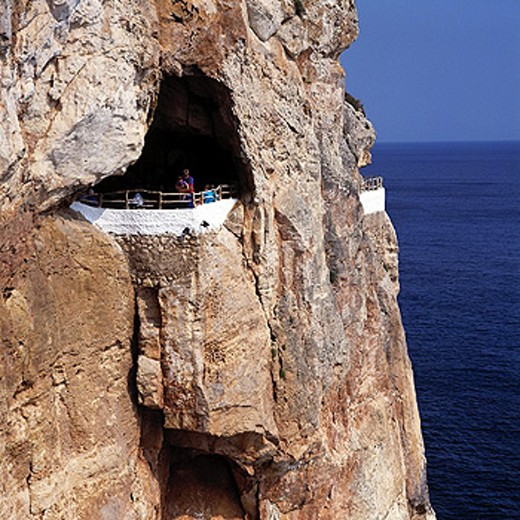 Stock Photo: 1566-070370 Cova d´en Xoroi. Cala En Porter. Minorca. Balearic Islands. Spain