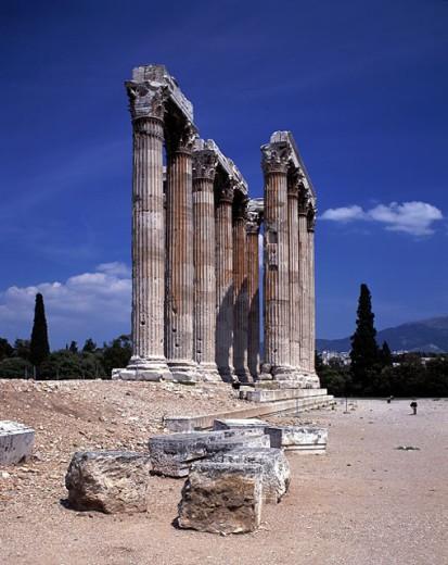 Olympieion, pillars. Acropolis. Athens. Greece : Stock Photo