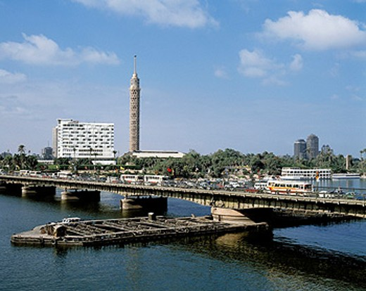 Stock Photo: 1566-070504 Nile panorama. Cairo. Egypt