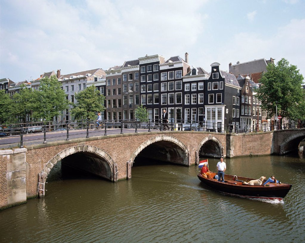 Keizersgracht (´Emperor´s Canal´). Amsterdam. Holland : Stock Photo