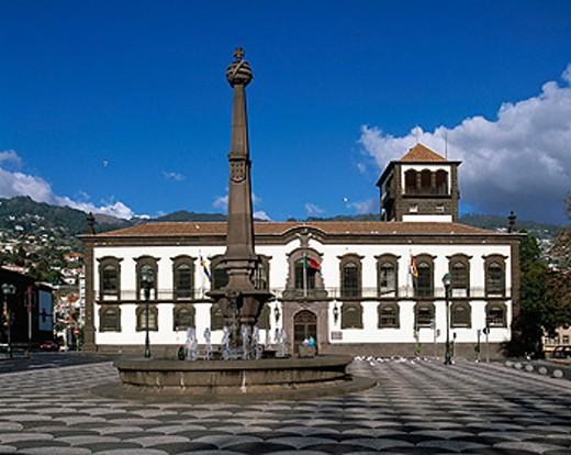 Town Hall. Funchal. Madeira : Stock Photo