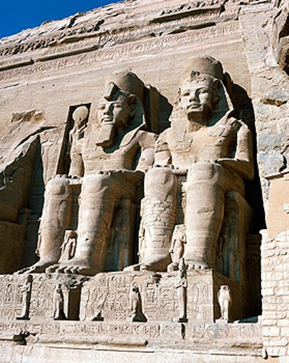 Stock Photo: 1566-070822 Colossal statues, Abu Simbel, Egypt