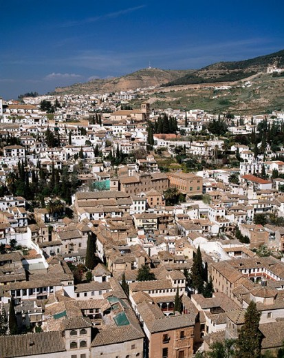 Stock Photo: 1566-070956 Spain, Andalusia, Granada, city view