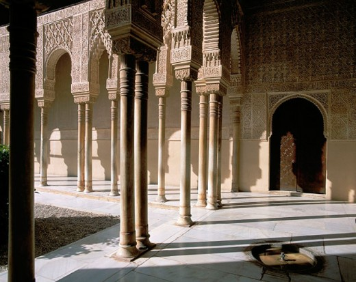Stock Photo: 1566-070965 Spain, Andalusia, Granada, Alhambra, Court of the Lions