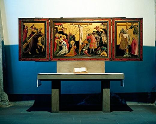 Germany, Dortmund, Marienkirche, Berswordt Altar : Stock Photo
