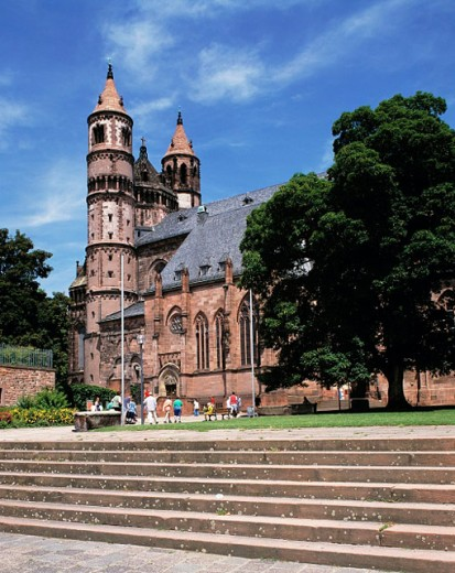 Stock Photo: 1566-071534 Germany, Worms, Rhineland-Palatinate, St. Peter Cathedral, Romanesque style