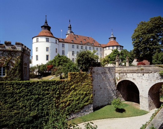 Germany, Langenburg, Baden-Württemberg, Residenzschloss (Residence Palace) : Stock Photo