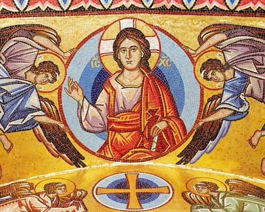 Pantocrator, mosaic at Kykko Monastery. Cyprus : Stock Photo