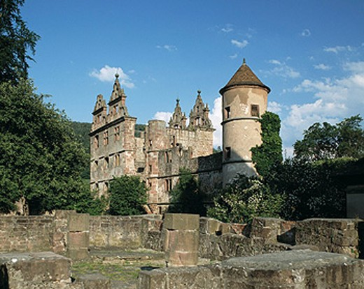 Stock Photo: 1566-072672 Hirsau benedictine monastery ruins, Calw, Baden-Württemberg, Germany