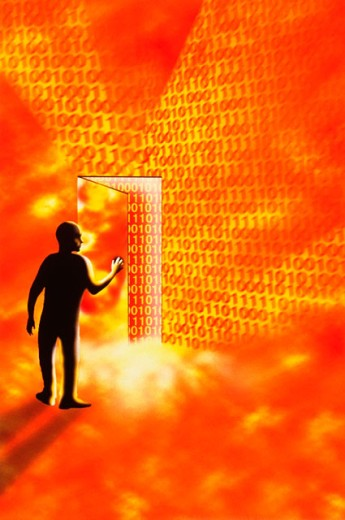 Stock Photo: 1566-073468 Internet doorway to information and entertainment