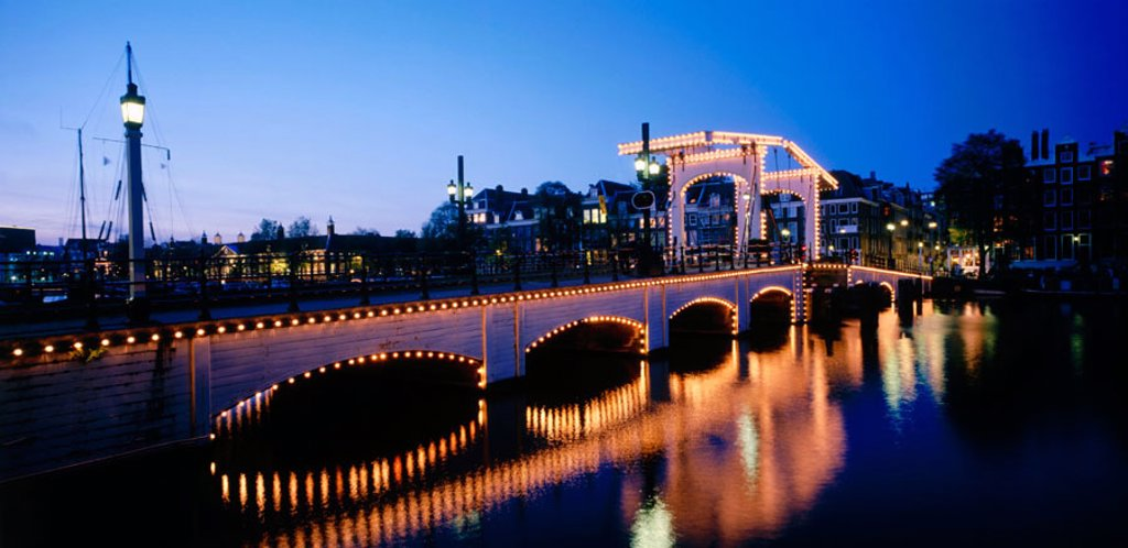Magere Brug. Amsterdam. Holland : Stock Photo