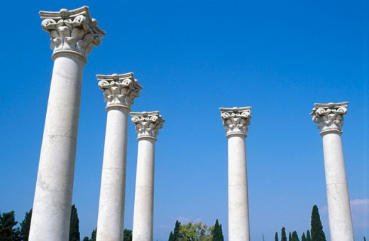 Stock Photo: 1566-076423 Ionic prostyle in Temple of Asklepius (early 3rd century B.C.). Kos Island. Greece
