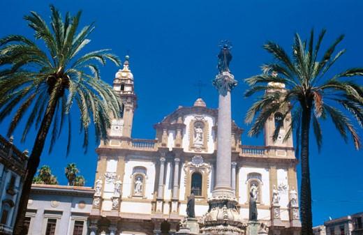 Church of San Domenico. Palermo. Sicily. Italy : Stock Photo