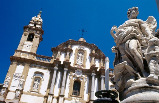 Church of San Domenico. Palermo. Sicily. Italy : Stock Photo