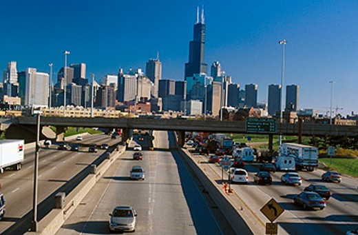 Sight with the Sears Tower. Chicago. Illinois. USA : Stock Photo