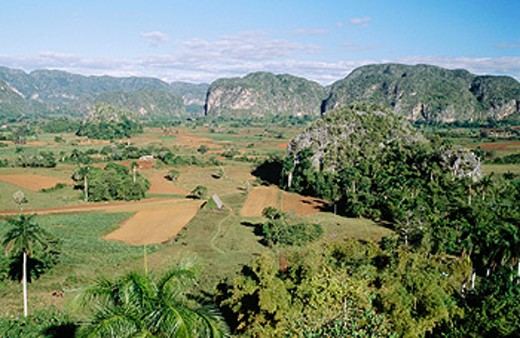 Stock Photo: 1566-076685 Mogote Dos Hermanas. Viñales Valley. Pinar del Río province. Cuba.