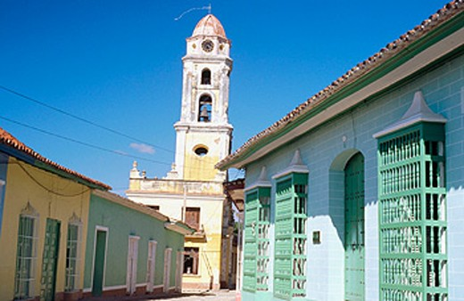 Museo Nacional de la Lucha Contra Bandidos (bandits museum and tower of former church of San Francisco de Asís). Trinidad. Cuba : Stock Photo
