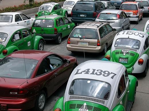 Stock Photo: 1566-077173 Taxis. Mexico City. Mexico