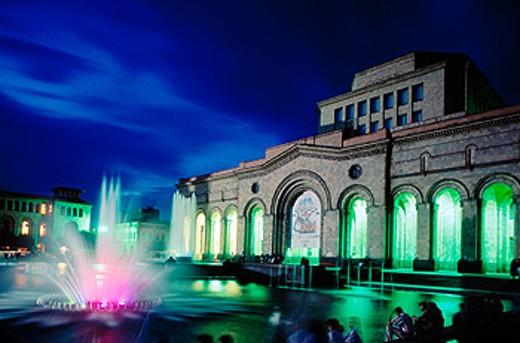 Stock Photo: 1566-078200 Republic Square. Yerevan. Armenia