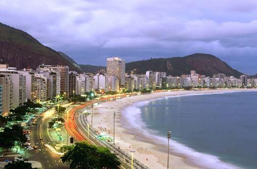 Copacabana Beach (view from Hotel Sofitel). Rio de Janeiro. Brazil : Stock Photo