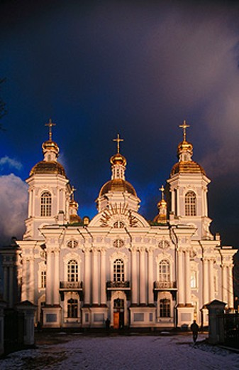 Naval St. Nicholas Cathedral of the Epiphany. St. Petersburg. Russia : Stock Photo