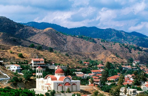 Kakopetria in Solea Valley. Trodos. Cyprus : Stock Photo
