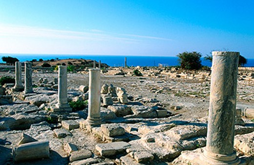 Archeological site in Amathus. Cyprus : Stock Photo