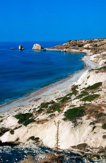 Stock Photo: 1566-078883 Petra Tou Romiou (supposed birthplace of Aphrodite). Cyprus