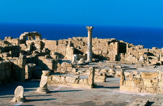 Early Christian basilica at Kourion archeological site. Cyprus : Stock Photo