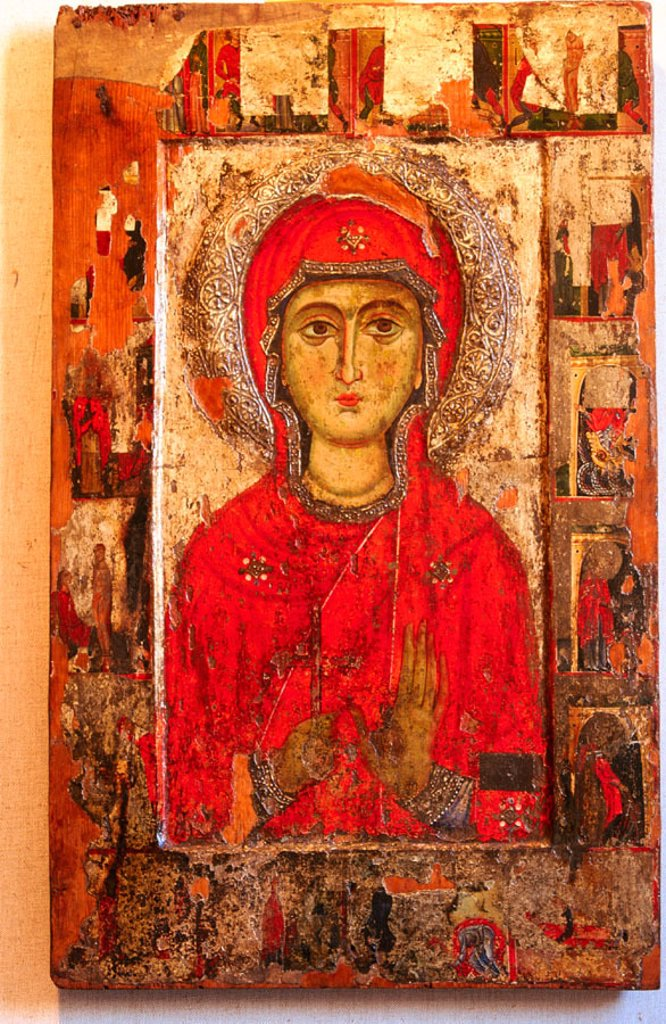 Painting in the Byzantine Art Museum. Nicosia. Cyprus : Stock Photo