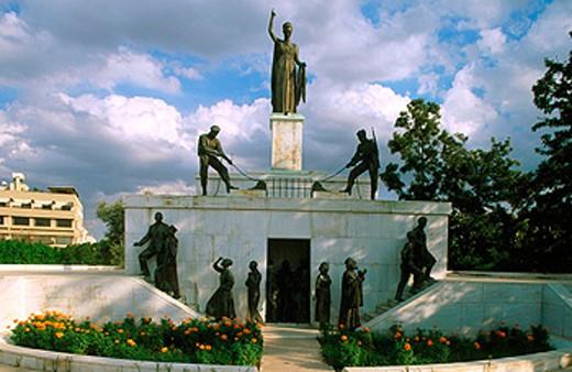 Stock Photo: 1566-078904 Liberation monument. Nicosia. Cyprus