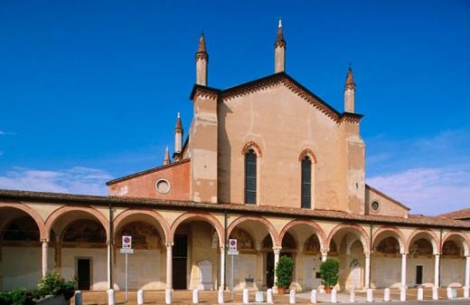 Stock Photo: 1566-079550 Sanctuary ´Santa Maria delle Grazie´ (1399-1406) near Mantova. Lombardy, Italy