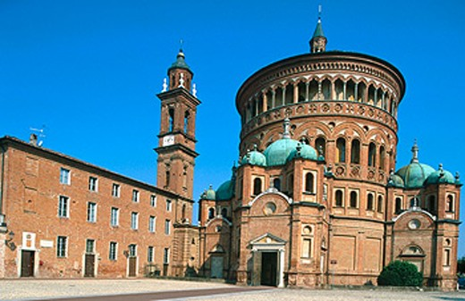 Sanctuary of Santa Maria della Croce (1490-1493) in Crema. Lombardy, Italy : Stock Photo