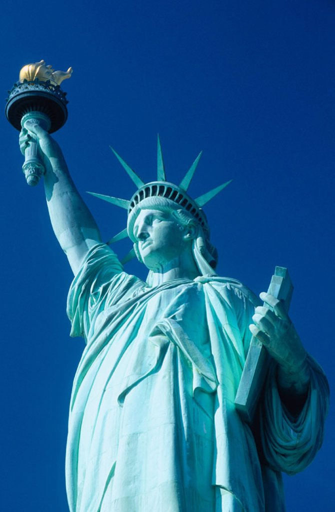 Stock Photo: 1566-084822 Statue of Liberty. New York City. USA