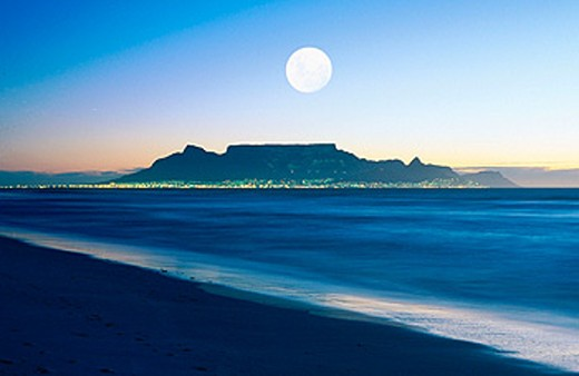 Stock Photo: 1566-084841 Cape Town, Table Mountain. South Africa