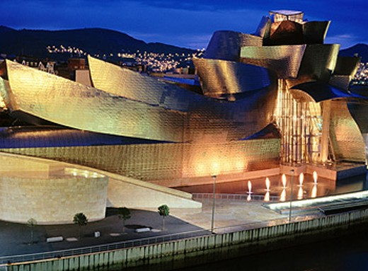 Guggenheim Museum, by Frank O. Gehry. Bilbao. Spain : Stock Photo