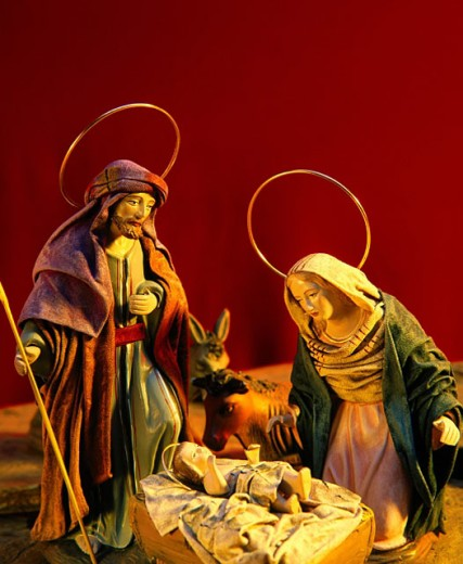 Stock Photo: 1566-089182 Nativity scene